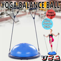"Half Ball Balance Trainer 24"" For Yoga Strength Resistance Exercise PVC +Plastic"
