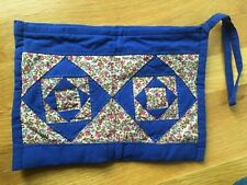 Hand Made Blue Quilted Purse