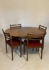Mid Century G PLAN TEAK Drop Leaf DINING TABLE & 4 Chairs By VB Wilkins Delivery