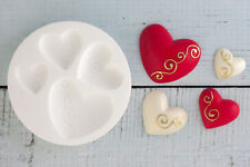 Silicone Mould Graduated Swirl Hearts Wedding Heart Favours Food Grade   M094