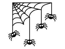 Spiders web corner wall, window decal vinyl sticker Home Shop Window