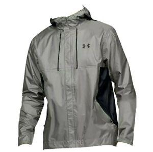 Men's Under Armour UA Storm Proof Black/Gray Golf Rain Jacket Size Large