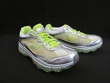 Skechers Sport Rev Vair Green Silver Running Training Shoes Women's 8.5M