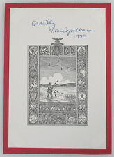 RARE F. VAN WYCK MASON SIGNED BOOK PAGE 1977 IN FRAME