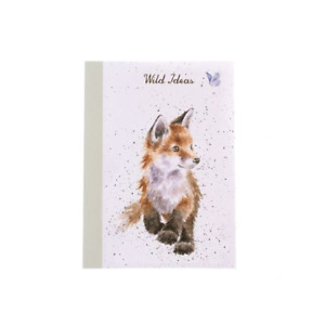 Wrendale Designs A6 Notebook Lined Pages Born To Be Wild Fox