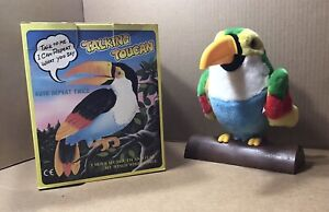 Vintage 1994 Talking Toucan Electronic Toy ~Talk to me I can repeat what you say