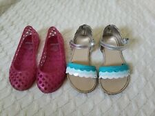 Shoes Gymboree,Desert Dreams,flower trimmed dress sandals,NWT,sz.9,10,2
