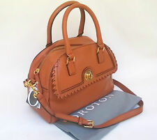 NEW OROTON Paddington Barrel Whip Stitch Handbag Bag Leather Tan Strap RRP$595