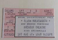 Allan Holdsworth - US Concert Ticket Stub 1988 Dallas, Texas