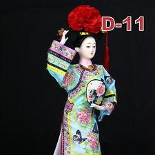 D-11 China Qing-Dynastie Geisha chinesisch Puppe Figur Seide 31cm groß