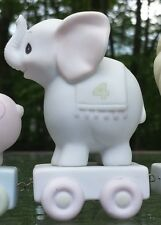 Precious Moments Birthday Train Figurine # 15970 Elephant Age 4 Dated 1985