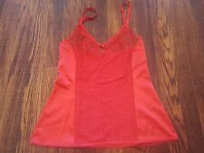 Vanity Fair Vintage Women's Cami Camisole Size 32 Red Lace