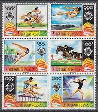 Ras al Khaima 1970 ** Mi.384/89 A Zdr. Olympische Spiele Olympic Games
