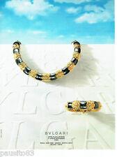 PUBLICITE ADVERTISING 046  1987  les  bijoux   joaillier     Bvulgari