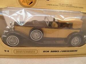 1978 MATCHBOX LESNEY MODELS OF YESTERYEAR 1:43 Y-4 1930 MODEL J DUESENBERG NEW