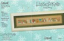 Lizzie Kate Snowy String Cross Stitch Chart