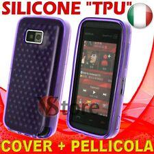 Cover Custodia Silicone Gel Viola Per Nokia 5530