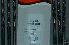 21/64 DRILL BITS  FOR DEWALT CRAFTSMAN NEW MADE IN USA ALFA TOOLS BB74118 6/PK