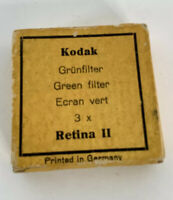 Vintage Kodak Retina II Green Filter In Original Box