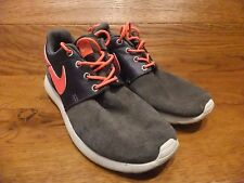 buy popular 7b2a6 1715d Nike Roshe Run Dark Grey   Atomic Red Casual Trainers Size UK 4 EUR 36.5