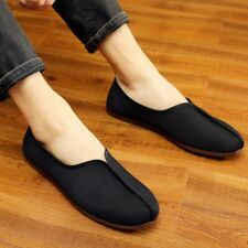 Men Chinese Kung Fu Shoes Tai Chi Martial Art Slip on Canvas Loafers Shoes Retro