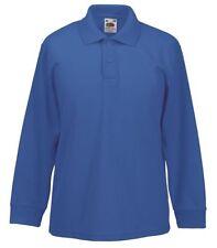 Vêtements bleus à manches longues en polyester pour garçon de 2 à 16 ans