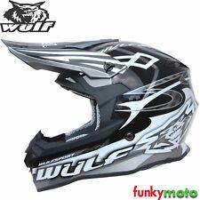 Wulf Black Helmet Sceptre Adults Minibike Off-road ATV Enduro Motorcycle ACU