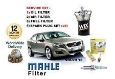 für Volvo V60 2.0 T5 2010> Wartung Set Öl luftpollenfilter Set + ZÜNDKERZEN