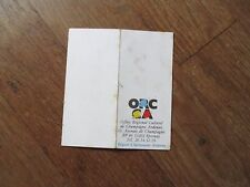 CALENDRIER ORCCA office regional culturel de champagne ardennes 1987