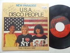 NEAX PARADISE Usa Disco people 114636 Dédicacé des trois artistes