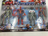 Avengers Endgame 16cm Action Figure War Machine Spiderman Falcon Captain Marvel
