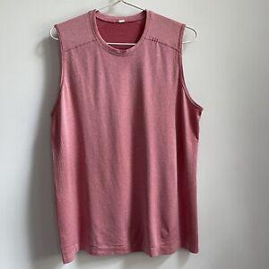 Lululemon Metal Vent Athletic Tank Top Sleeveless Pink XL