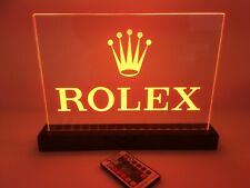 Rolex Dealer Sign. Wireless And Rechargeable Reverse Engraved Acrylic