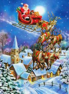 """CHRISTMAS EVE"" Santa Sleigh Church Town 300 Pieces BOXLESS Jigsaw Puzzle *NEW*"