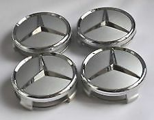 Mercedes Benz Wheel Centre Caps 75mm Silver A Class W176 [2012-2017] Hatchback
