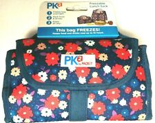 Packit Freezable Gel Lined Lunch Bag Folds Flat for Easy Storage New Floral