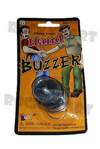HAND BUZZER Wind Up Prank Toy Finger Ring Practical Joke RM3021