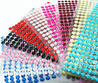 Self Adhesive Stick Gems Diamante Rhinestones Sparkle Strip Crystal Stickers