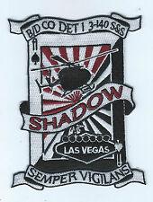 """B/D CO DET 1 3-140 S&S  """"SHADOW"""" LAS VEGAS patch"""