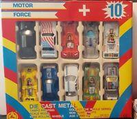 MOSATOYS MOTOR FORCE SET 10 RACE CAR 1/50 NEUF EN BOITE