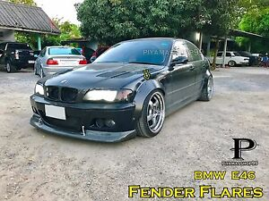 Fender Flares over wide body wheel arches Steel for E46, Sedan,Touring,coupe