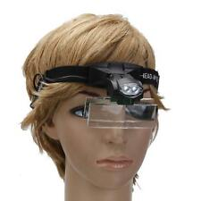 5 Lens Jewelry Magnifying Glass Headband Loupe Magnifier with 2 LED Light #9892C