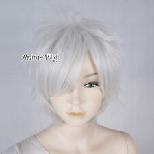 Layered 30CM Silver Gray Short Anime Cosplay Women Girl Heat Resistant Full Wig