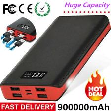 900000mAh Portable Power Bank 4Usb External Battery Backup Charger Fast Charging