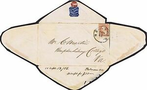 1862 c CSA Turned Cover with 3c Sheet Marginal and 10c Blue Civil War Rare