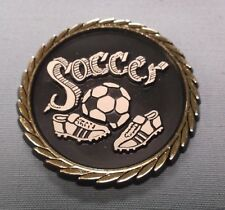 lot of 22 soccer theme trophy parts plaque relief ball and shoes
