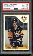 1985 OPC #9 Mario Lemieux RC PSA 8 +++ Centered HOF Pittsburgh Penguins