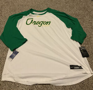Oregon Ducks Baseball Nike Tee Shirt Men's Size: 3XL NWT Green/White