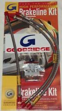 MG new Braided Stainless Front & Rear Brake Line Hoses for MGB 1962-80