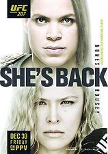 UFC 207 Fight Poster (24x36) - Amanda Nunes vs Ronda Rousey